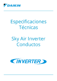 Especificaciones Técnicas - Sky Air Inverter Conductos