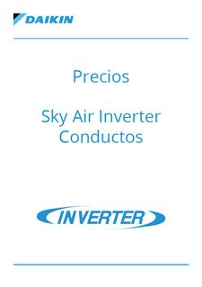 Precios - Sky Air Inverter Conductos