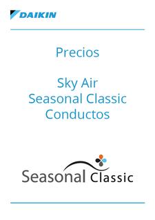 Precios - Sky Air Seasonal Classic Conductos