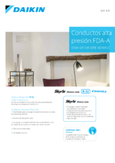 Conductos alta presion DAGS-A - Sky Air Serie Advance