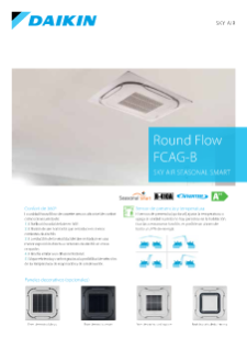 Round Flow Cassette ZCQG-B - Sky Air Seasonal Smart