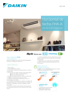 Horizontal de techo HASG-A - Sky Air Serie Advance