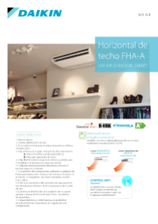Horizontal de techo ZHQG-CB - Sky Air Seasonal Smart