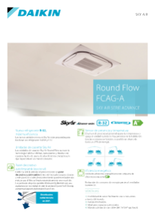 Round Flow Cassette - Sky Air Serie Advance - CASG-A