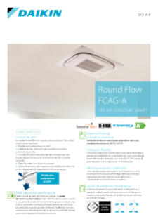 Sky Air Seasonal Smart - Round Flow Cassette - ZCQG-F